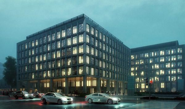 wizualizacje budynku biurowego meedo